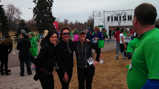 Lucky Laces 5K with Lauren and Erika
