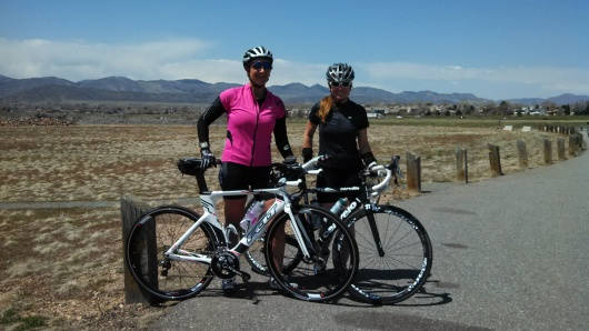 First training ride on my Felt bike ACE, with Marla